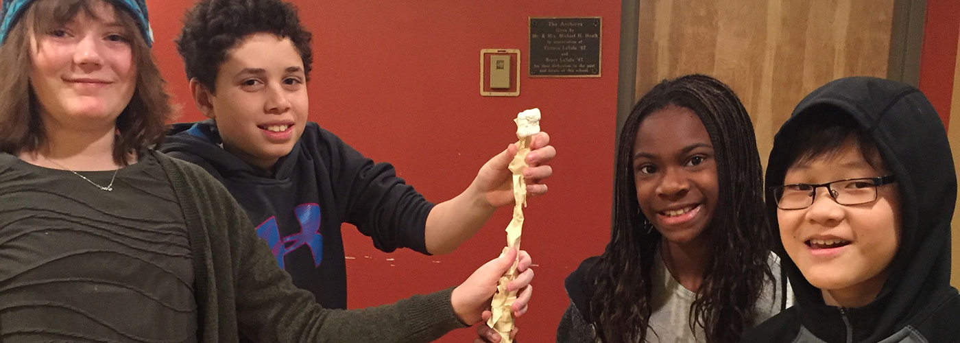 Our 6th graders greatly enjoyed a recent 'bridge building' HomeBase activity with marshmallows and spaghetti!